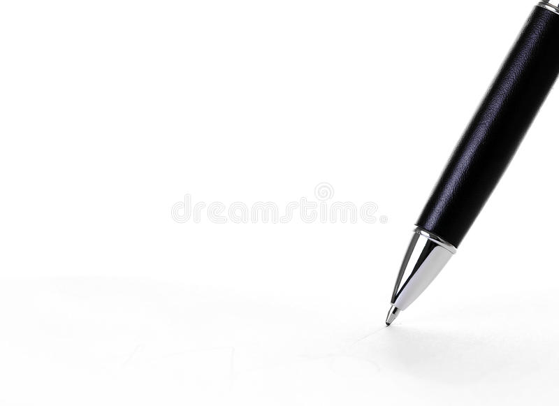 Écriture de crayon lecteur images libres de droits