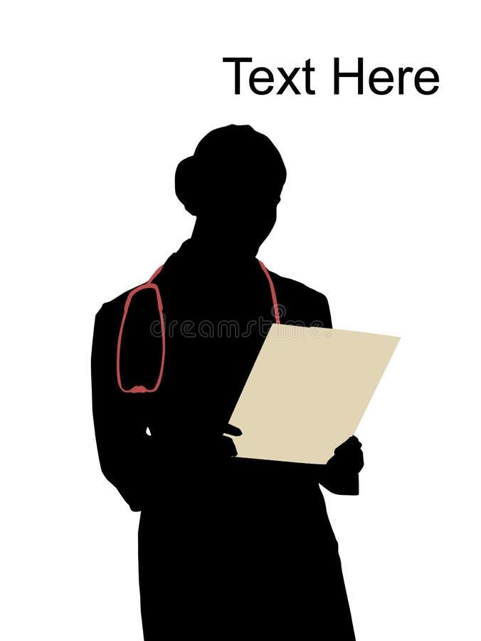 écriture de docteur de panneau illustration stock