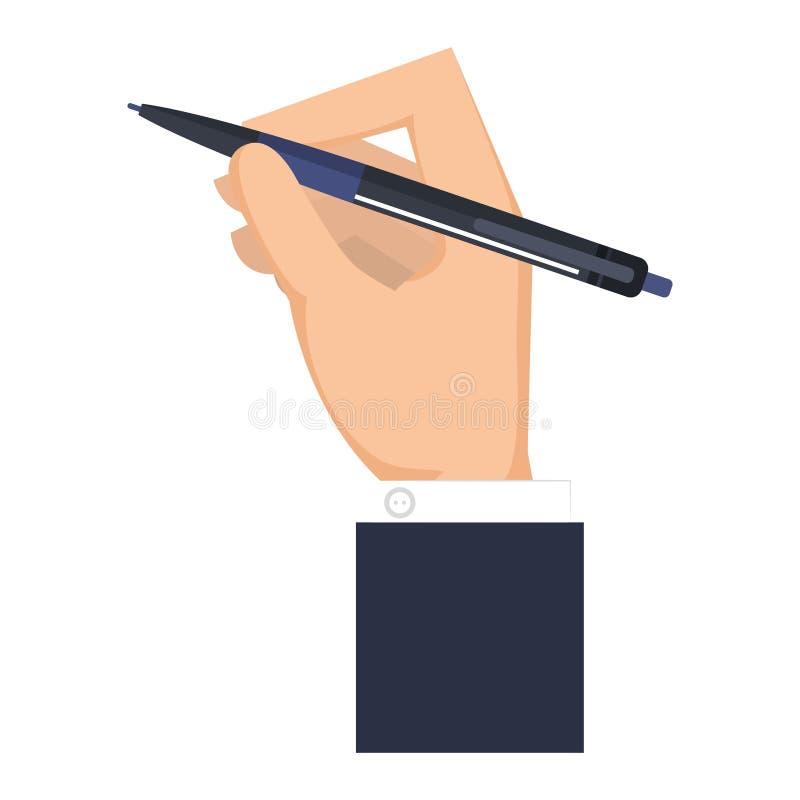 Écriture de main avec le crayon illustration libre de droits