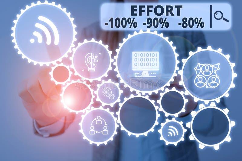 Écriture de texte Effort 100 % 90 % 80 % Concept d'entreprise pour la discipline du niveau de détermination photos libres de droits