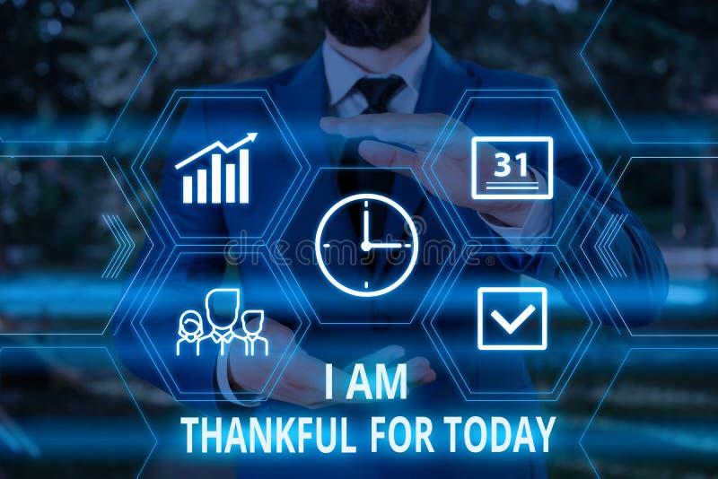 Écriture de textes pour lesquels je suis reconnaissant aujourd'hui Concept d'entreprise pour Grateful sur la vie un jour de plus  images stock