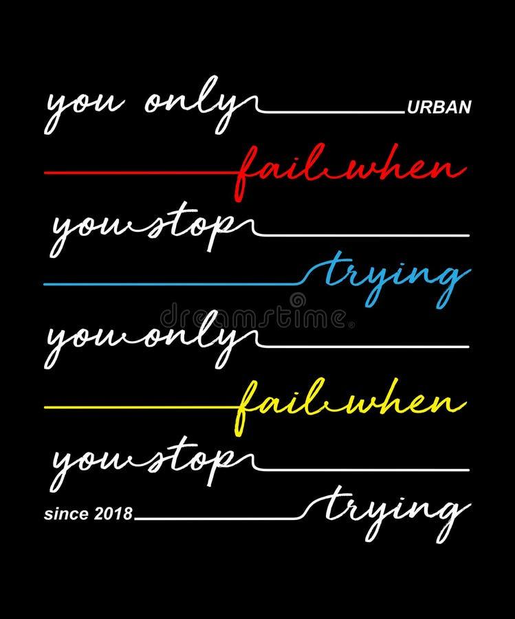 Écriture de typographie de vecteur de conception pour le T-shirt illustration libre de droits