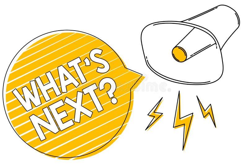 Écriture des textes d'écriture quel s est prochaine question La signification de concept obtiennent l'information posent la quest illustration de vecteur