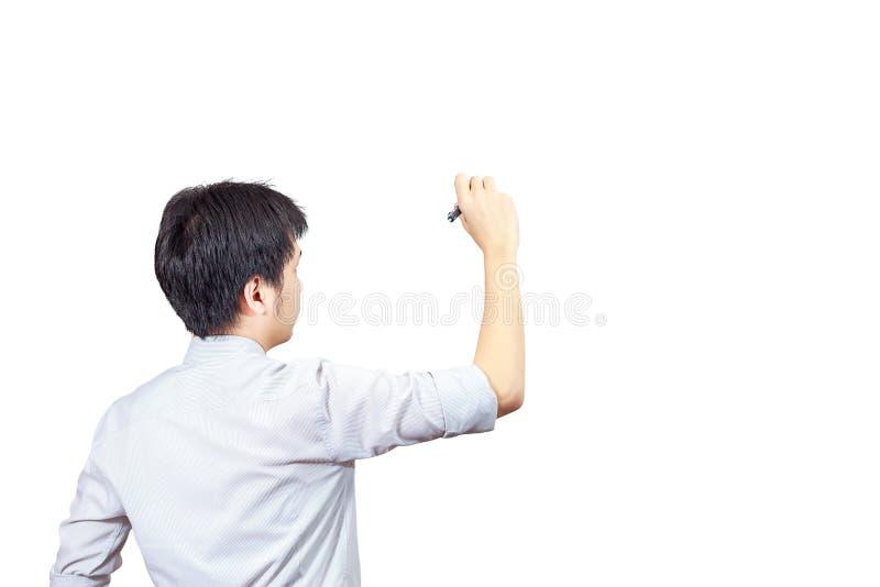 Écriture, dessin sur l'écran photographie stock