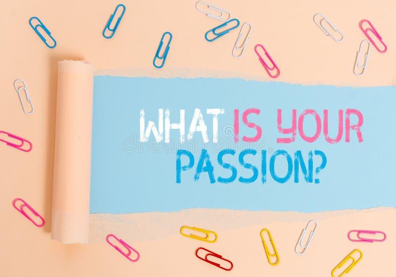 Écriture manuelle conceptuelle montrant la question de votre passion Photo d'entreprise présentant des questions sur son fort et  photo libre de droits