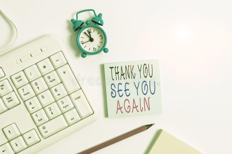 Écriture manuelle conceptuelle montrant Remerciements à nouveau Photo d'entreprise présentant l'appréciation de la gratitude Merc images libres de droits