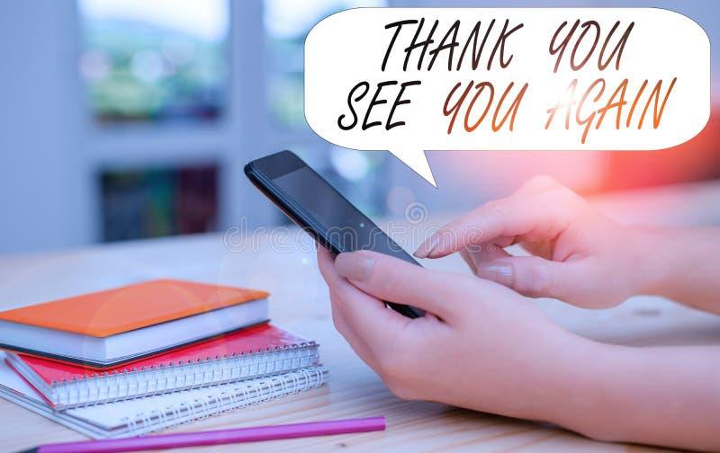 Écriture manuelle conceptuelle montrant Remerciements à nouveau Texte de la photo d'entreprise Appréciation Gratitude Merci Je se photo libre de droits