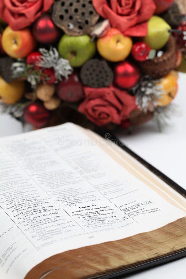 Écriture sainte d'action de grâces images libres de droits