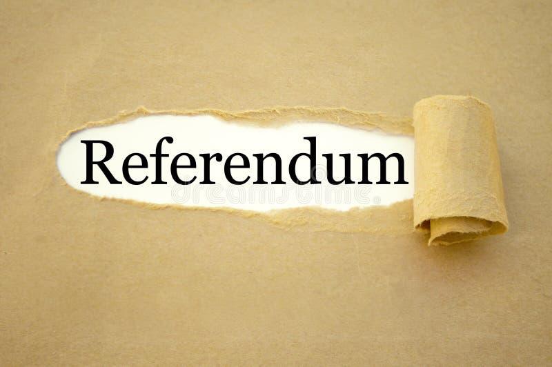Écritures avec le référendum photographie stock