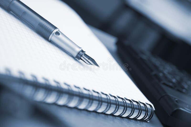 Écritures de bureau images libres de droits