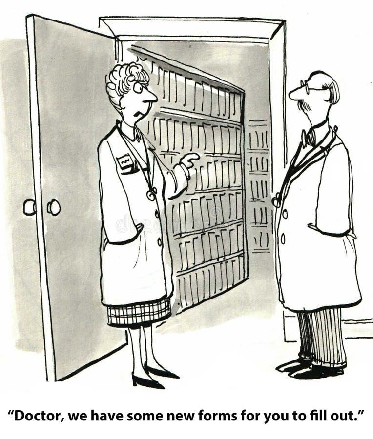 Écritures médicales illustration libre de droits