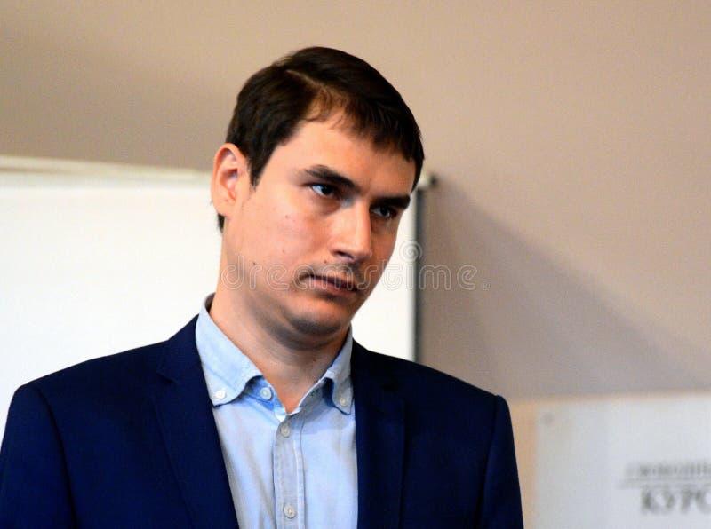 Écrivain russe, député de la Douma d'Etat de l'Assemblée Fédérale de la Fédération de Russie VII convocation Sergueï Chargounov image libre de droits