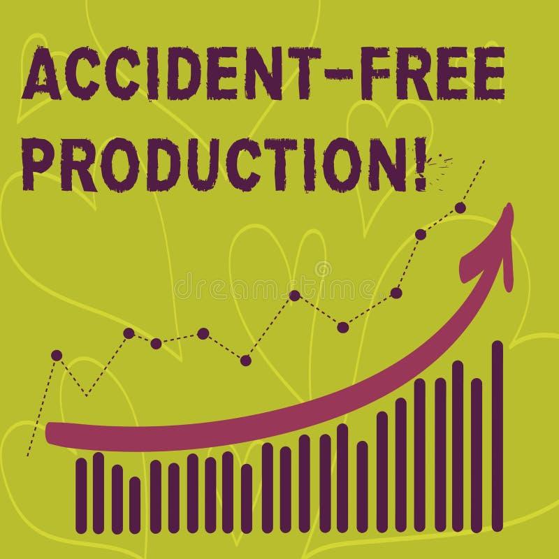 Écrivant à accident d'apparence de note la production libre Productivité de présentation de photo d'affaires sans travailleurs bl illustration stock