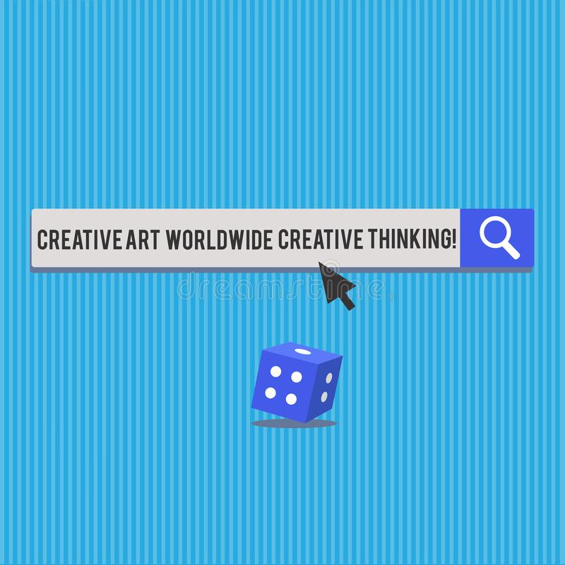 Écrivant à apparence de note Art Worldwide Creative Thinking créatif La photo d'affaires présentant la conception moderne globale illustration stock