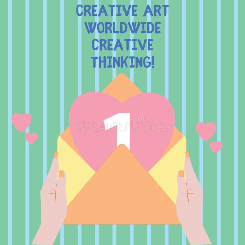 Écrivant à apparence de note Art Worldwide Creative Thinking créatif Photo d'affaires présentant la conception moderne globale de illustration de vecteur
