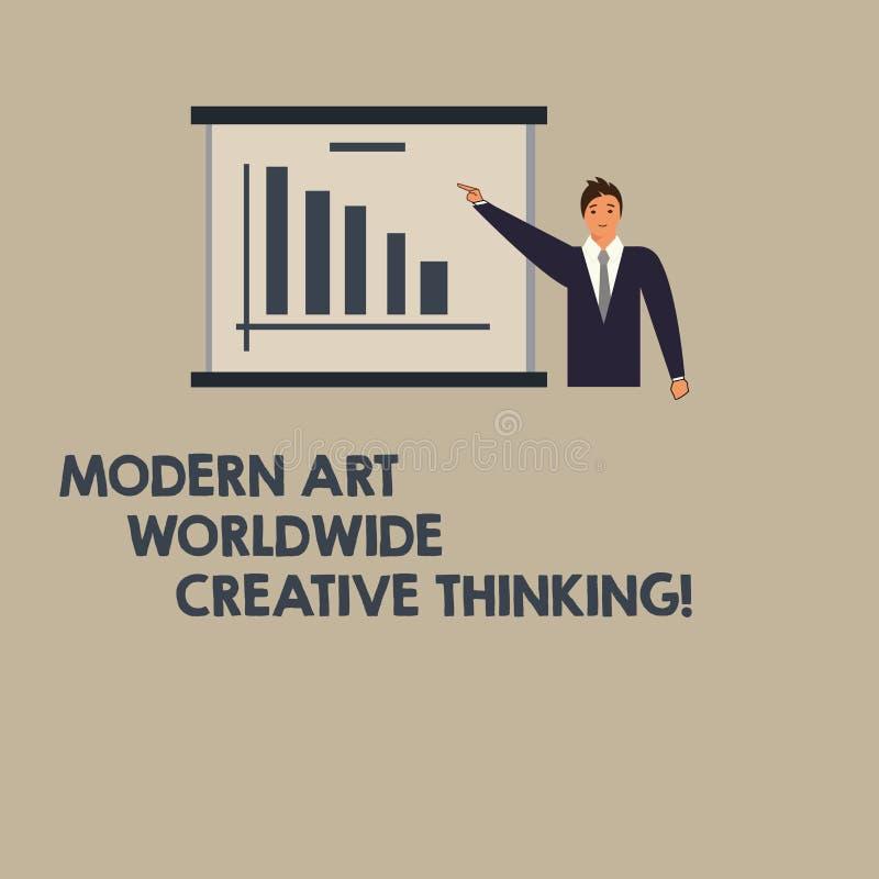 Écrivant à apparence de note Art Worldwide Creative Thinking moderne Expressions artistiques de présentation de créativité de pho illustration de vecteur