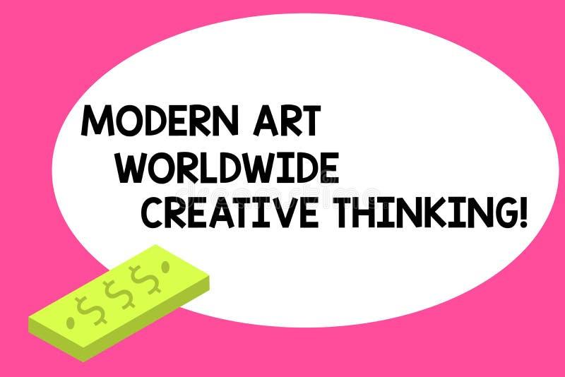 Écrivant à apparence de note Art Worldwide Creative Thinking moderne Unité artistique de présentation d'expressions de créativité illustration stock