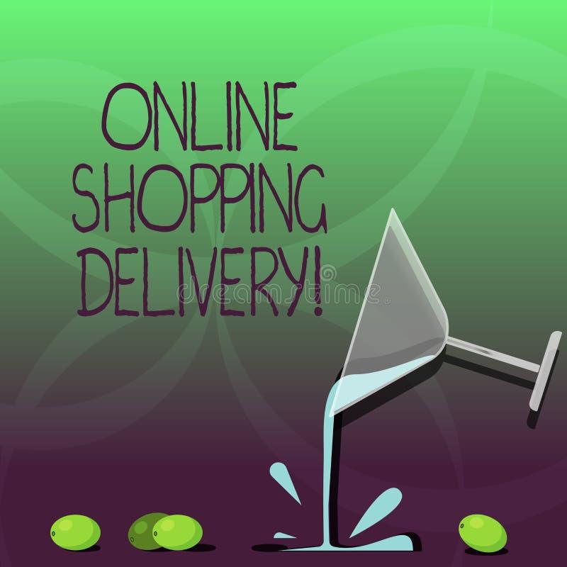 Écrivant à apparence de note la livraison de achat en ligne Processus de présentation de photo d'affaires d'embarquer un article  illustration de vecteur