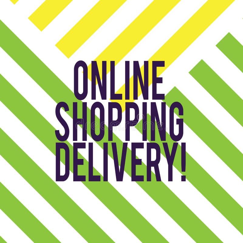 Écrivant à apparence de note la livraison de achat en ligne Processus de présentation de photo d'affaires d'embarquer un article  illustration stock