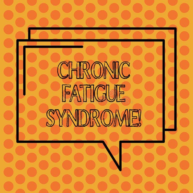 Écrivant à apparence de note le syndrome chronique de fatigue Photo d'affaires présentant débilitant le désordre décrit par extré illustration de vecteur
