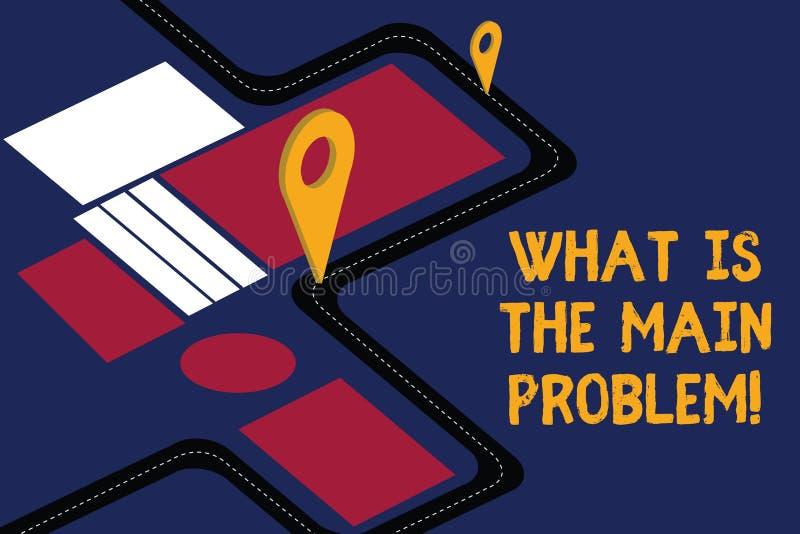 Écrivant l'apparence de note quel est le principal problème La présentation de photo d'affaires identifient la cause des problème illustration libre de droits