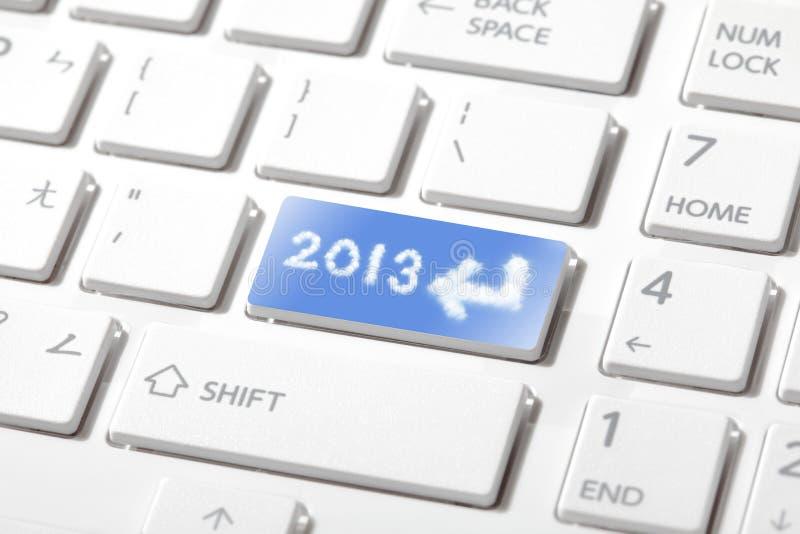 Écrivez 2013 ans neufs heureux images stock
