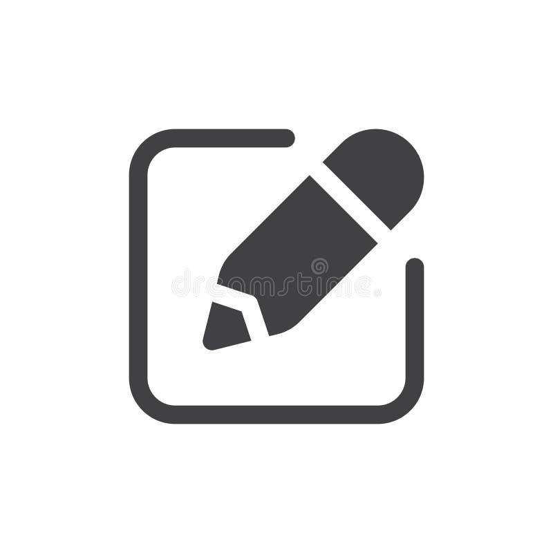 Écrivez le vecteur simple d'icône illustration stock
