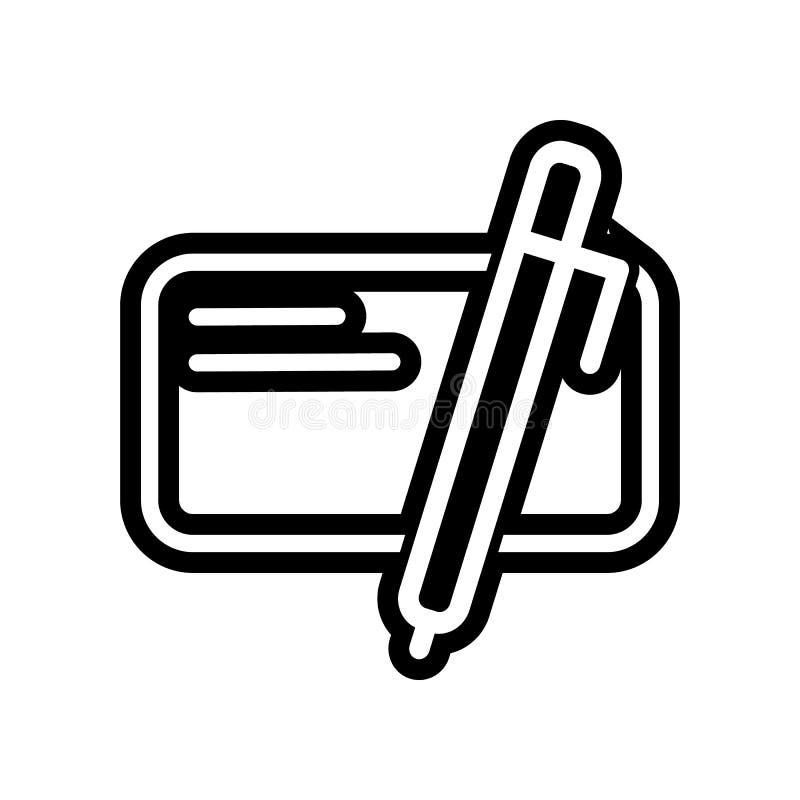 écrivez pour l'icône de site Web ?l?ment des finances pour le concept et l'ic?ne mobiles d'applis de Web Glyph, ic?ne plate pour  illustration libre de droits