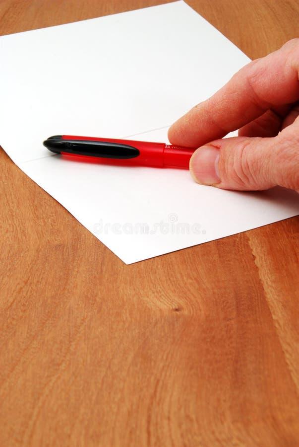 Écrivez une lettre photos stock
