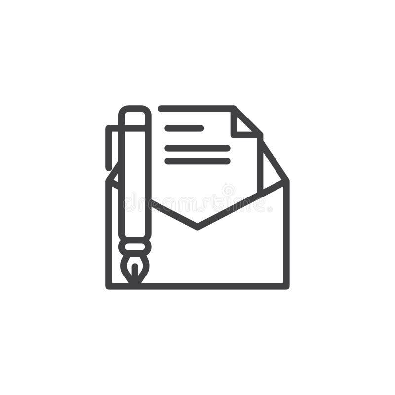Écrivez une ligne de message icône illustration de vecteur