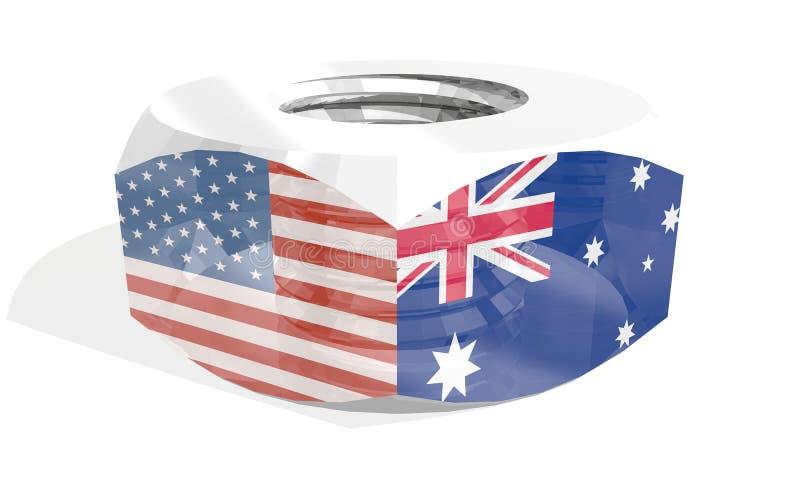 Écrou avec des drapeaux illustration libre de droits