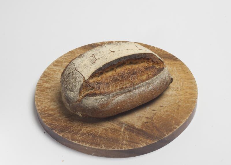 écrou de blanc de pain de blé de plein-grain photo libre de droits
