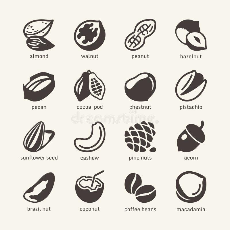 16 écrous - CET d'icône de Web illustration de vecteur