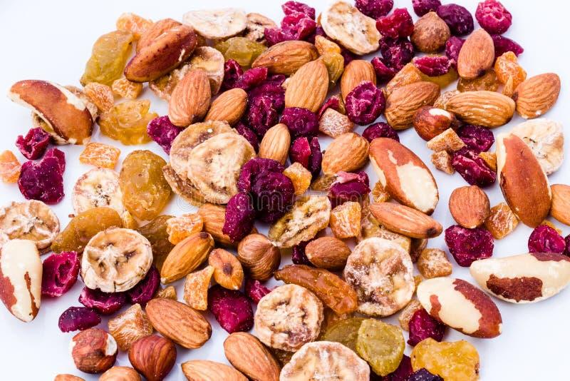 Écrous et préparation de fruits secs photographie stock