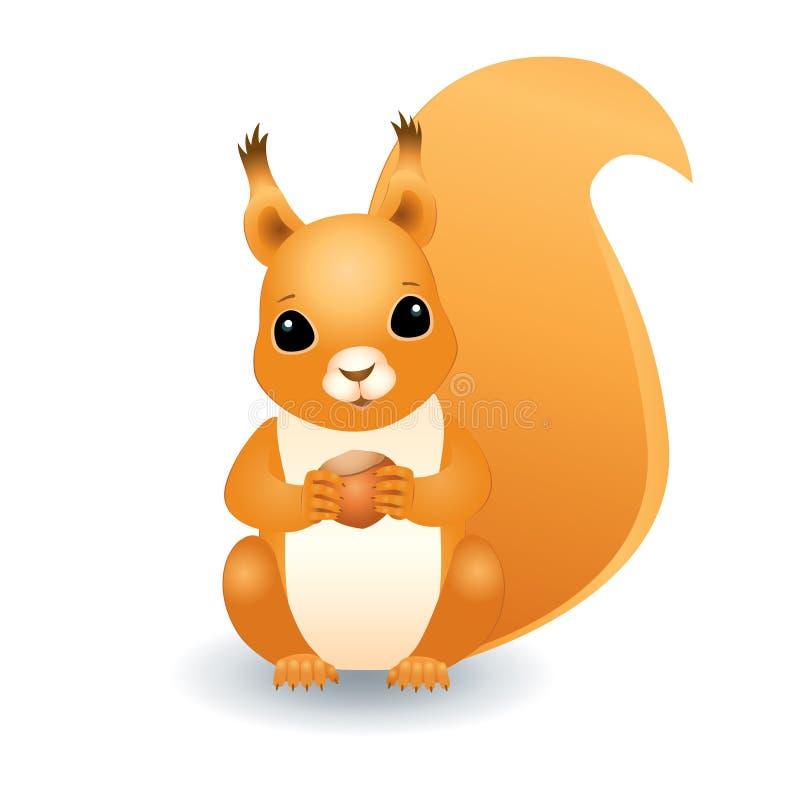 Écureuil avec la noisette illustration libre de droits