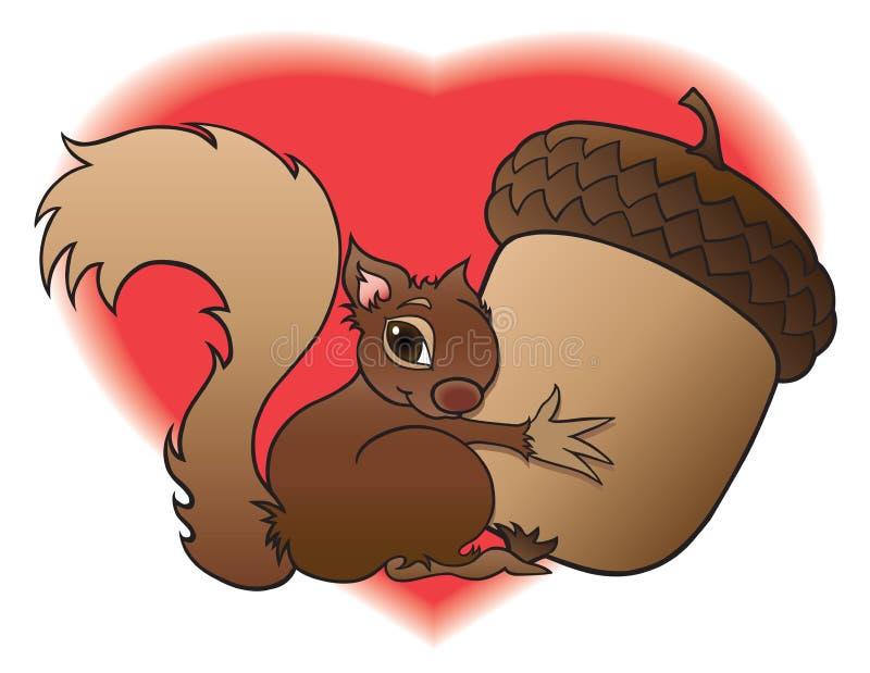 Écureuil de bébé illustration stock