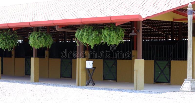Écurie de cheval et école d'équitation modernes dans la grange à la ferme image stock