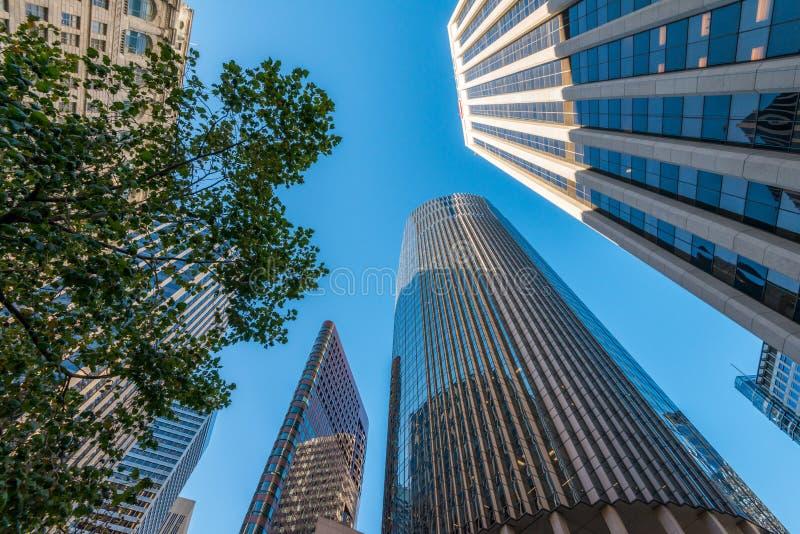 Édifices hauts à San Francisco - angle dramatique photo libre de droits