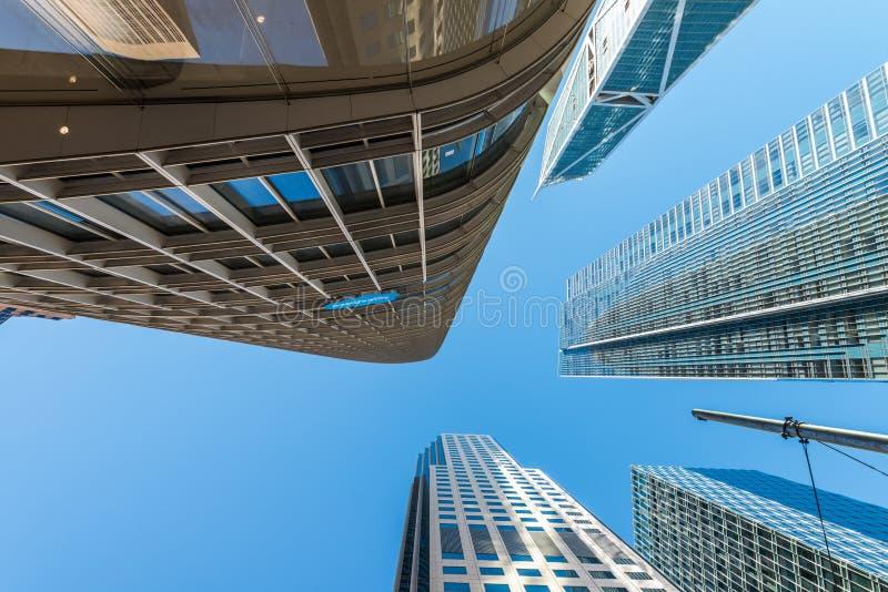 Édifices hauts dans le secteur financier du ` s de San Francisco photo libre de droits