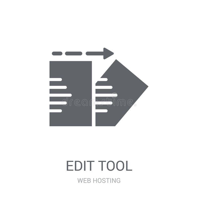Éditez l'icône d'outil  illustration stock
