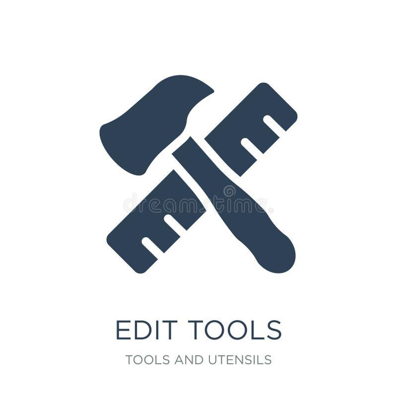 éditez l'icône d'outils dans le style à la mode de conception éditez l'icône d'outils d'isolement sur le fond blanc éditez l'icôn illustration stock