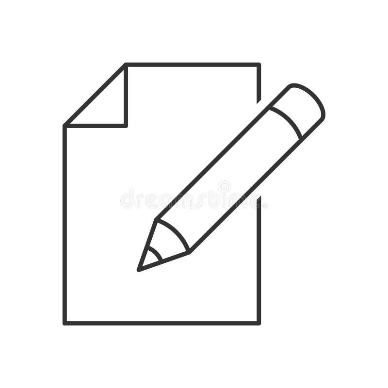 Éditez l'icône de document illustration libre de droits