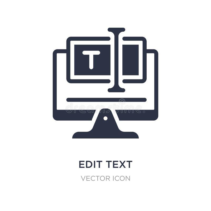 éditez l'icône des textes sur le fond blanc Illustration simple d'élément de concept d'accueil de Web illustration stock