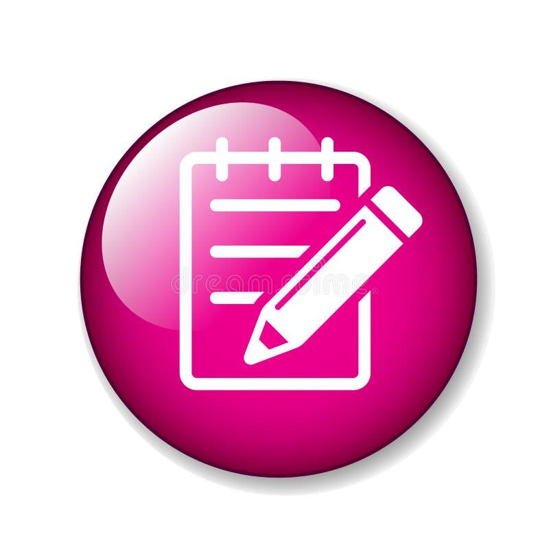 Éditez le bouton d'icône illustration stock