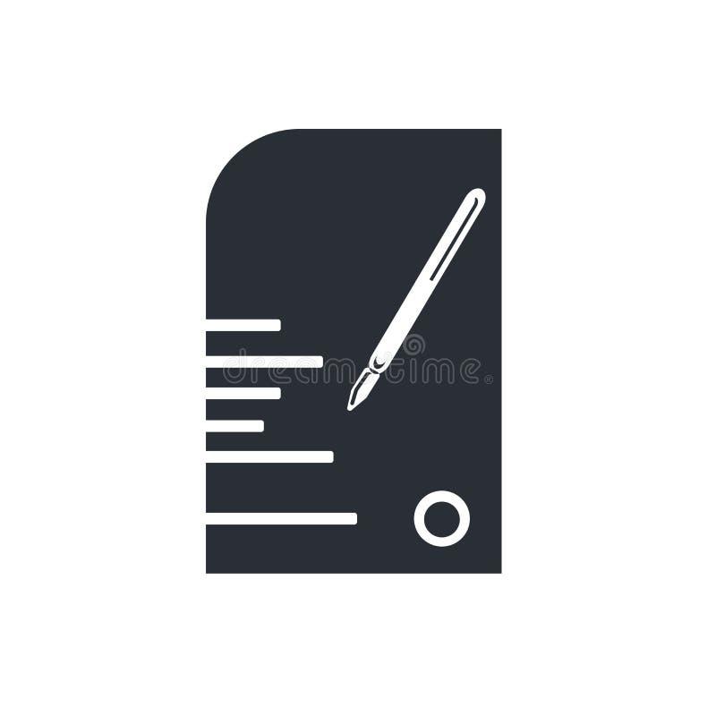Éditez le signe de vecteur d'icône de crayon et le symbole d'isolement sur le fond blanc, éditent le concept de logo de crayon illustration stock