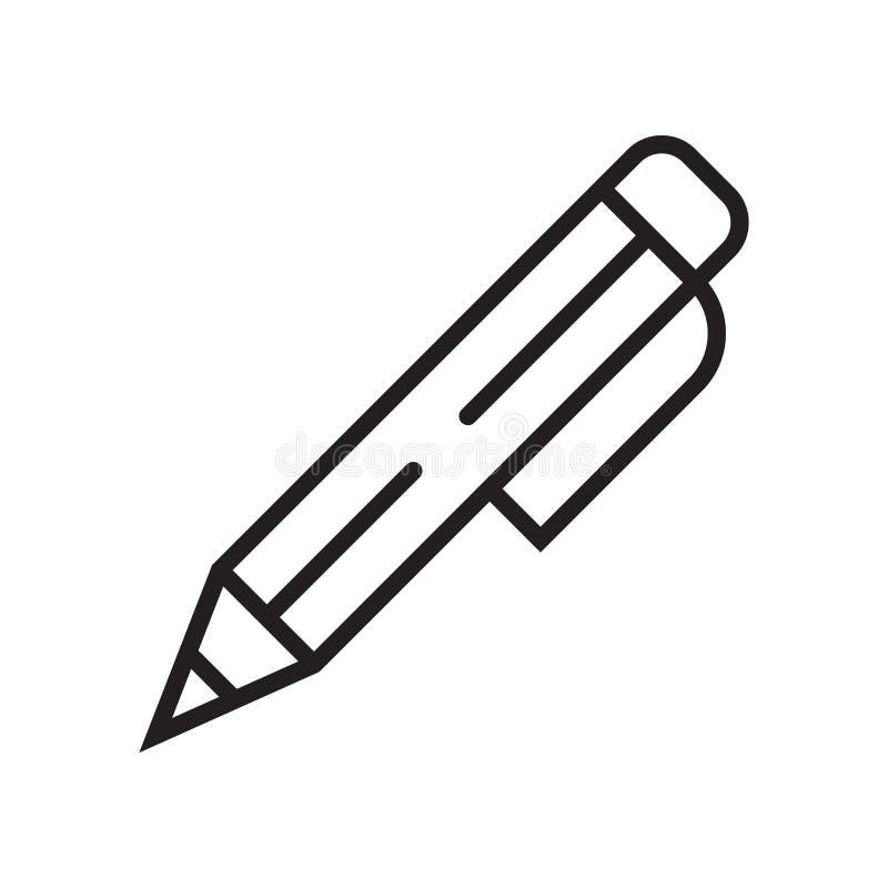 Éditez le signe de vecteur d'icône et le symbole d'isolement sur le fond blanc, éditent le concept de logo illustration stock