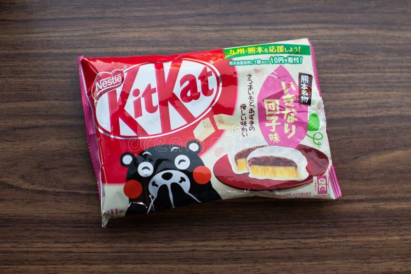 édition de Kit-KAT Kumamon Ikinari Dango - édition limitée spéciale japonaise seulement pour le Japon photo libre de droits