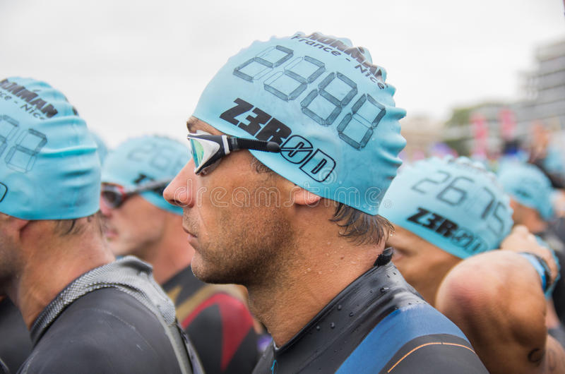 Édition 2013, Nice, France d'Ironman image stock
