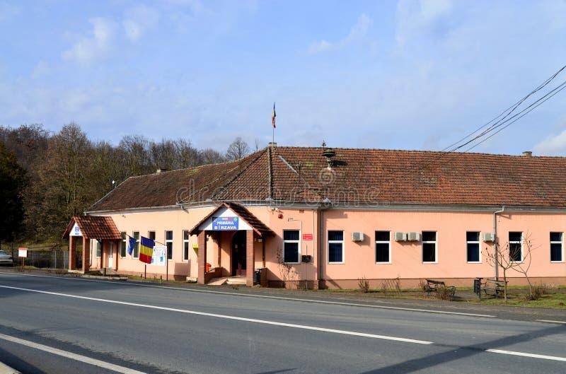 Éditorial d'hôtel de ville de village de Birzava image libre de droits