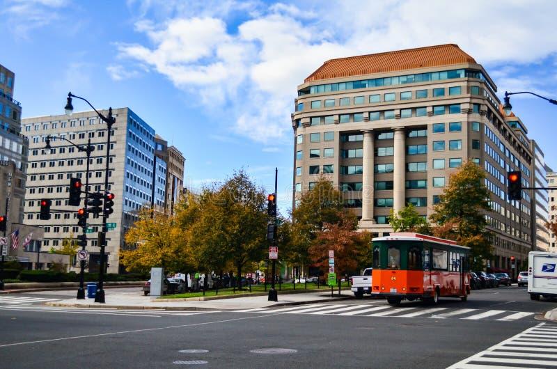 Éditorial : Washington DC, Etats-Unis - 10 novembre 2017 Les gens dans la ville de Washington DC pendant le matin image stock